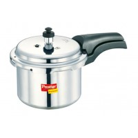 Prestige 3 Liter Aluminum Deluxe Pressure Cooker with Extra Thick Base