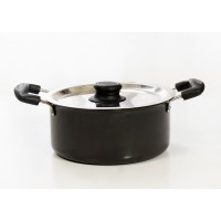 Eris 1.5 Liters Casserole with Steel Lid, Hard Anodized, EHCL397