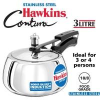 Hawkins Contura 3 Liters Stainless Steel Pressure Cooker SSC30