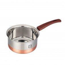 Eris 1.75 Liter Copper bottom Stainless Steel Saucepan ECSP597