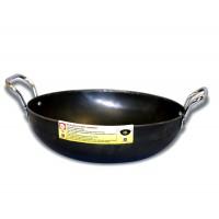 """Eris 9"""" Iron Kadai Deep Fry Pan"""