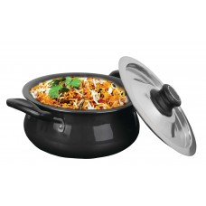 Eris 3 Liters Handi/Saucepot, Hard Anodized with Steel Lid, EHND333