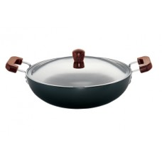 Futura (AD75S) 7.5 Liters Deep Fry Pan with Lid, Hard Anodized
