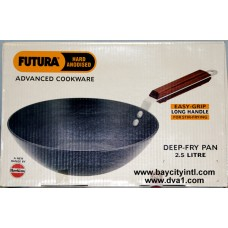 Futura (ADL25) 2.5 Liters Deep-Fry Pan, Hard Anodized