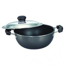 Manttra 27cm Omega Select Dep Fry Pan Kadhai, with Steel Lid30728