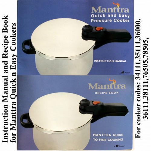 Manttra Instruction & Recipe Book Quick n Easy
