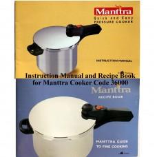 Manttra Instruction & Recipe Book 36000