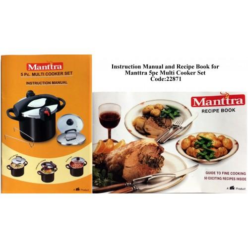 Manttra Instruction & Recipe Book 22871