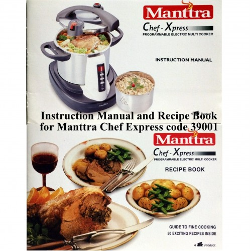 Manttra Instruction & Recipe Book Electric Cooker