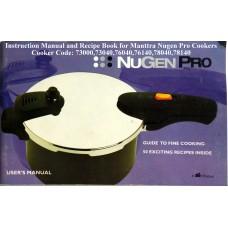 Manttra Instruction & Recipe Book NuGen Pro